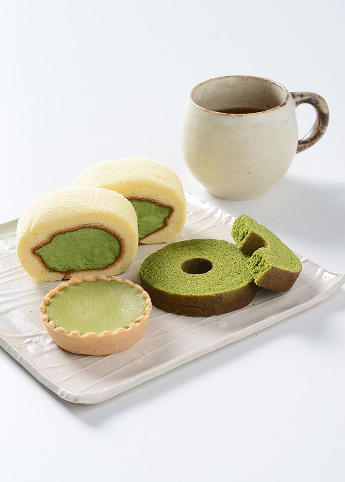 京・宇治茶游堂 【茶游堂】濃茶ロール・抹茶チーズケーキ・抹茶バームクーヘンセット