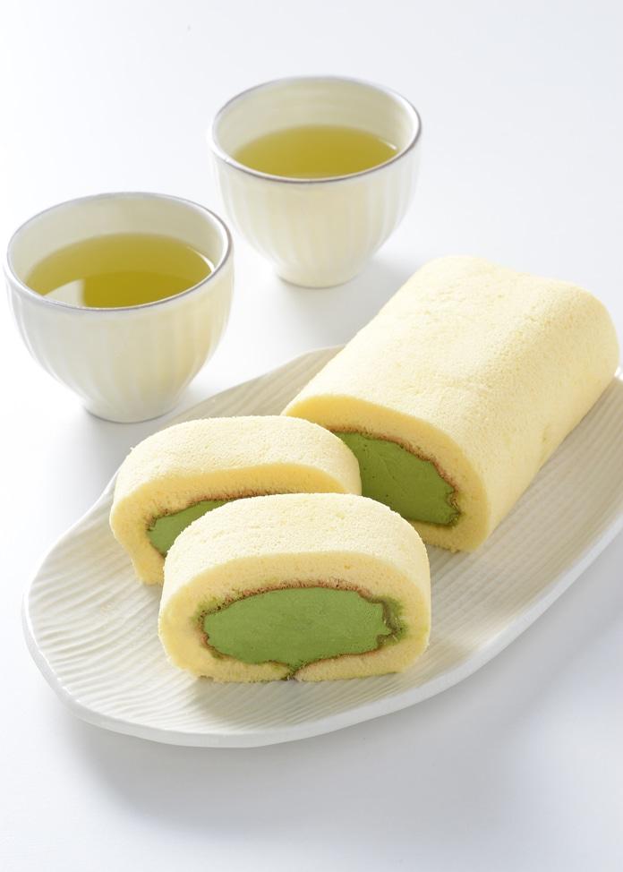 京・宇治茶游堂 濃茶ロールケーキ (ロングサイズ)