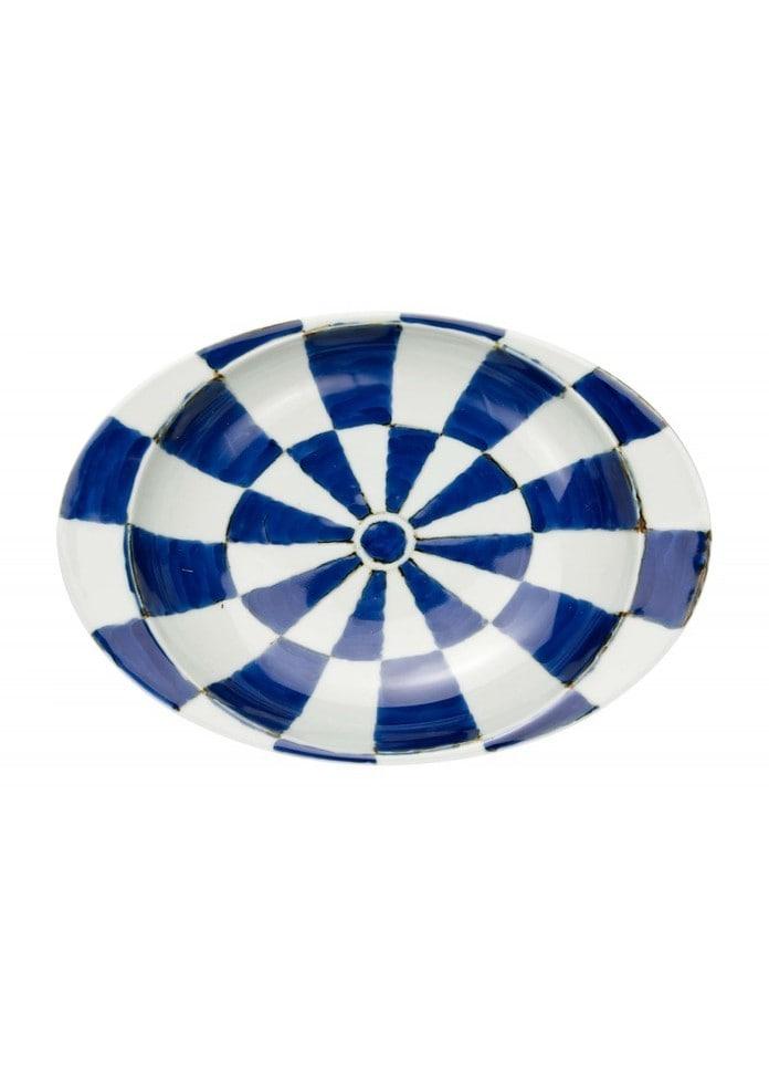 篠英陶磁器 【有田焼】匠の蔵・極上のカレー皿 チェッカー