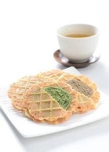 【古都の石畳】ハードワッフル  抹茶4枚 ほうじ茶4枚