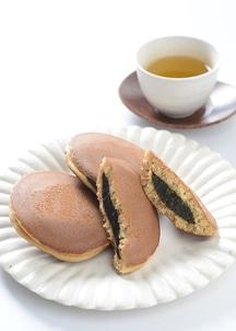 【古都の円】京風どら焼き 抹茶3個 ほうじ茶2個詰合せ