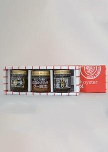 広島かきみそラー油・生七味・椎茸かき佃煮3点セット