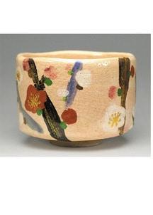 乾山「槍梅の画」抹茶碗