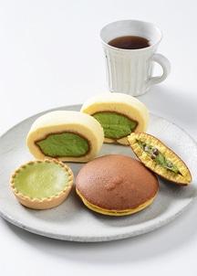 【茶游堂】濃茶ロール・抹茶チーズケーキ・抹茶生どら焼きセット