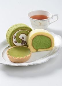 【茶游堂】濃茶ロール・茶游堂ロール・抹茶チーズケーキセット