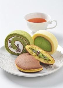 【茶游堂】濃茶ロール・茶游堂ロール・抹茶生どら焼きセット