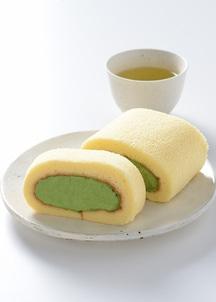 濃茶ロールケーキ (ハーフサイズ)