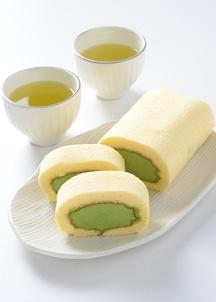 濃茶ロールケーキ (ロングサイズ)