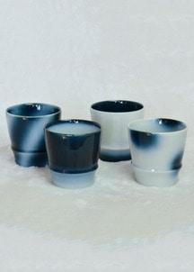 ヨシュアブルー焼酎カップ(ストライプ)
