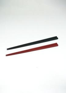 蒔地楕円箸 赤口朱