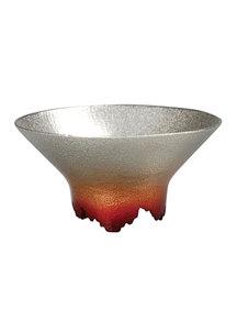 SHIKICOLORS Sake Cup Golden leaf Scarlet