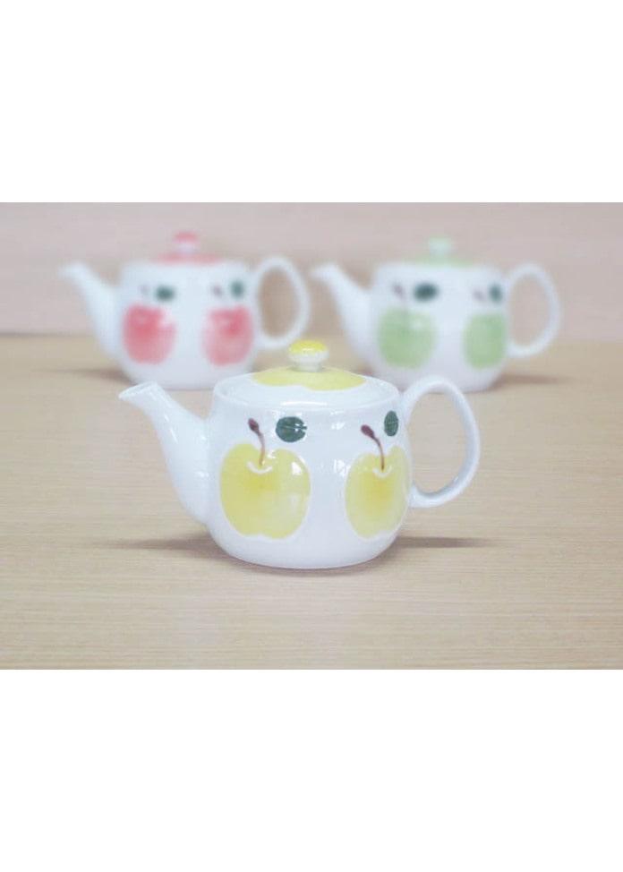 篠英陶磁器 りんご(黄)・ポット