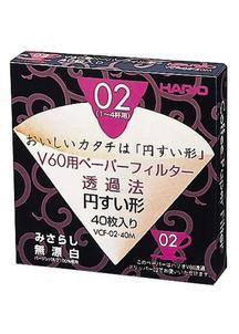 HARIO  V60用ペーパーフィルターみさらし02 (1~4杯用)