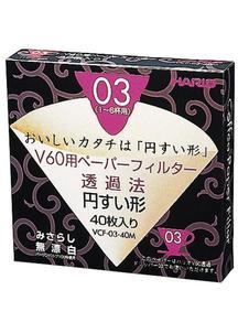 HARIO  V60用ペーパーフィルターみさらし03 (1~6杯用)