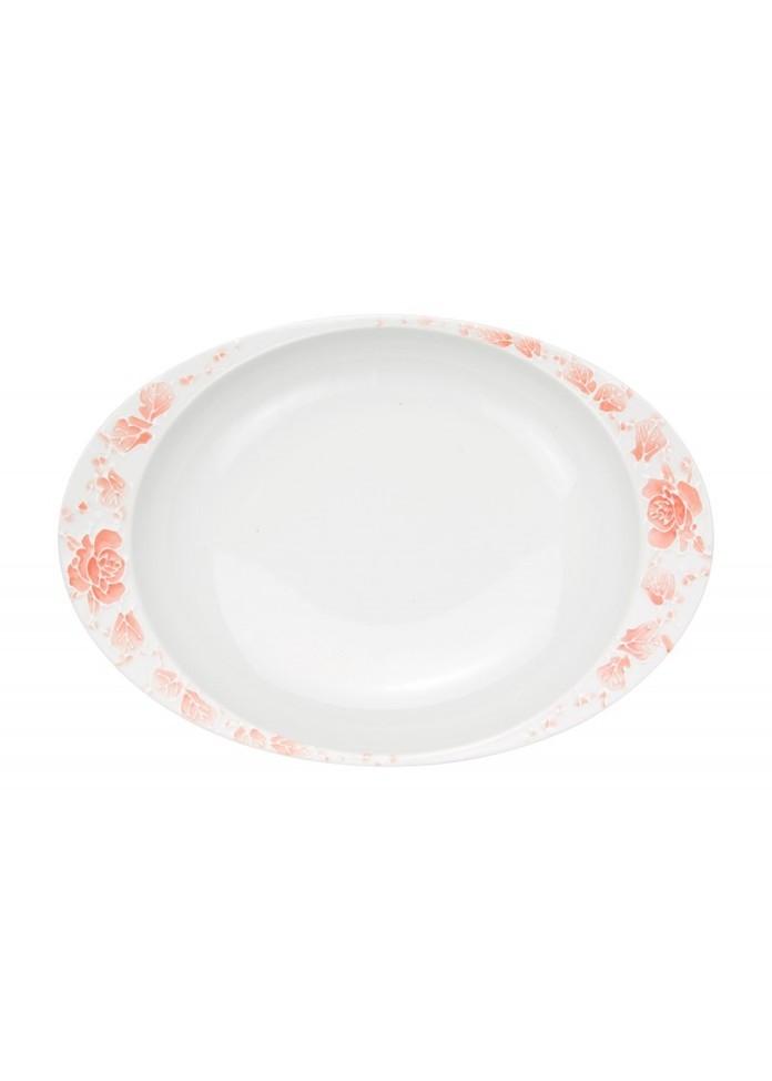 篠英陶磁器 【有田焼】匠の蔵・極上のカレー皿 ローズ