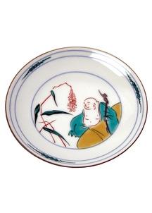 豆皿名品コレクション 古九谷色絵布袋図