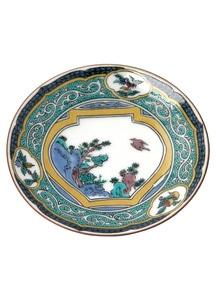 豆皿名品コレクション 古九谷色絵壺花鳥図