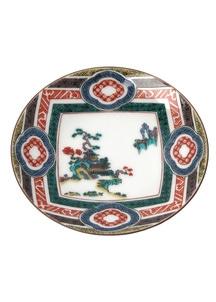 豆皿名品コレクション 古九谷木瓜ちらし山水図