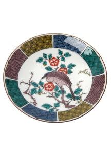 豆皿名品コレクション 古九谷色絵花鳥図