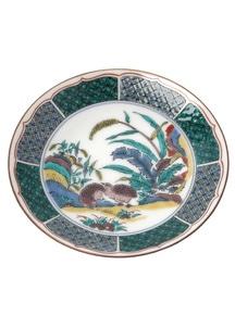 豆皿名品コレクション 古九谷色絵鶉草花図