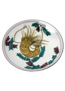 豆皿名品コレクション 古九谷色絵海老藻文