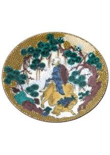 豆皿名品コレクション 吉田屋牡丹花肖柏図
