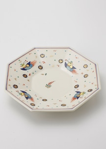 ペルシア色絵八角鉢