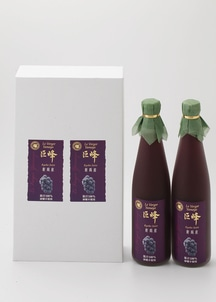巨峰ジュース2本セット(果汁100%ストレートジュース)