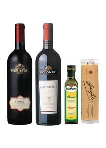 イタリアをまるごと満喫!イタリアワインとパスタセット