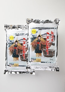 【農家直送】新潟産減農薬減化学肥料栽培米 コシヒカリ玄米 10kg