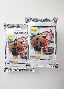 【農家直送】新潟産減農薬減化学肥料栽培米 コシヒカリ精米 10kg