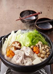 にいがた地鶏水炊きセット 2~3人前(骨付き肉400g 鶏ガラ白湯スープ500ml)