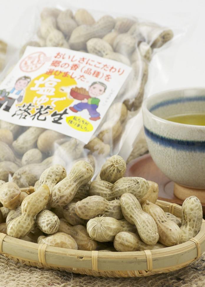 Sanwa Agri 鹿児島伝統のおつまみ 塩茹で落花生6袋セット(250g x 6袋)