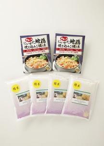 にいがた地鶏炊き込みご飯の素&オーガニック米セット[精米]