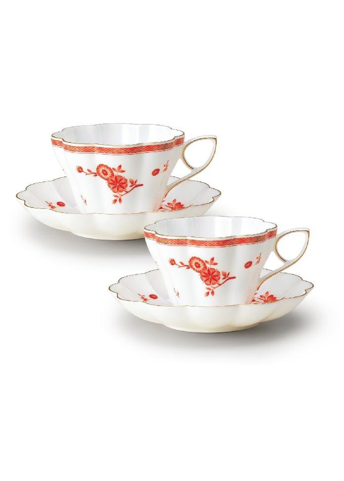 NIKKO 金沢コレクション ペア菊型碗皿(220cc)