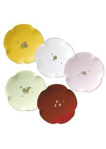 金沢コレクション 5色宝づくし14cm銘々皿(5枚組)