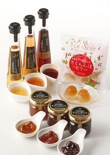 さくらんぼジャム・さくらんぼ酢3種類・さくらんぼゼリーのセット
