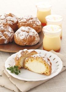 会津山塩のシュークリーム詰合(シュークリーム5個&プリン3個)