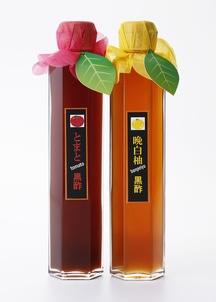 7倍濃縮熊本丸ごと酢イーツ黒酢2本セット(トマト黒酢・晩白柚黒酢)