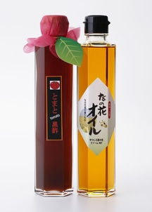 酢イーツトマト黒酢と菜の花オイル2本セット