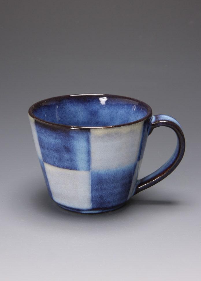 萩焼 松光山窯 青萩釉 マグカップ