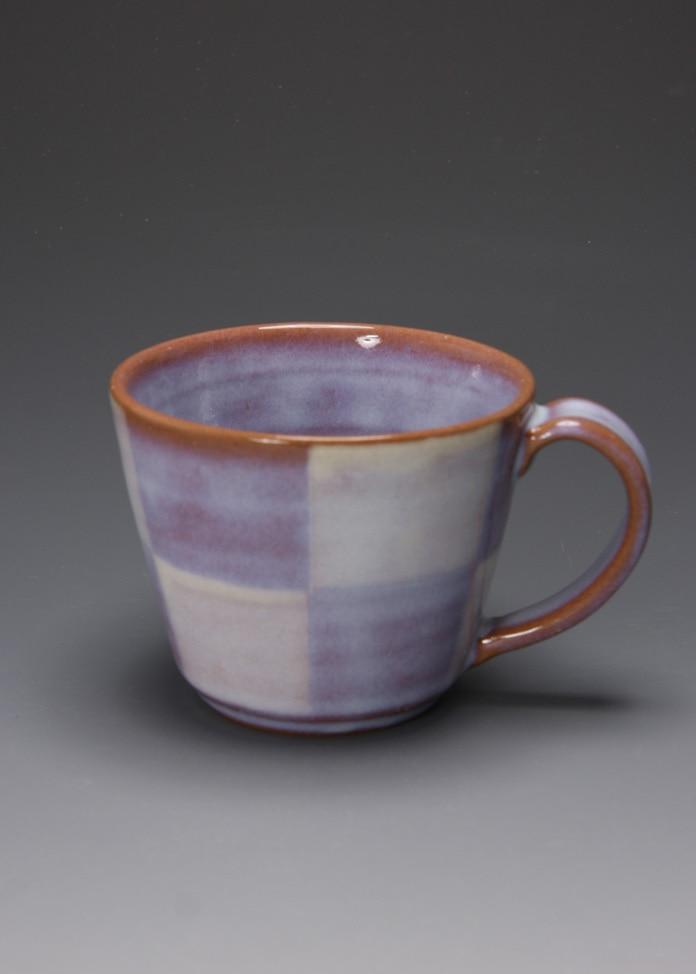 萩焼 松光山窯 紫釉 マグカップ