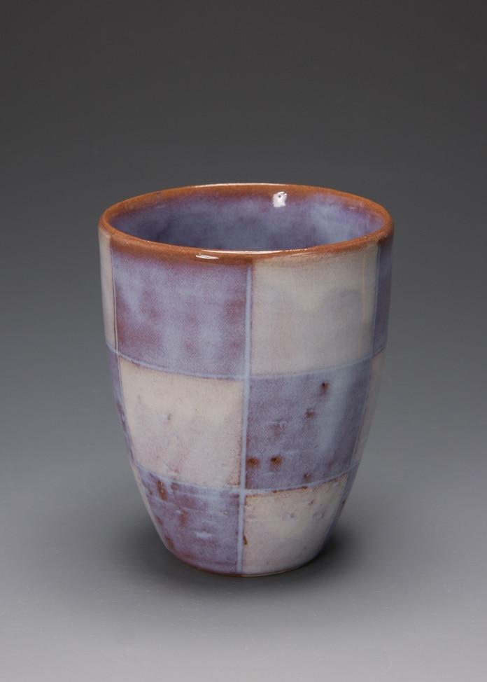 萩焼 松光山窯 紫釉 ビールカップ
