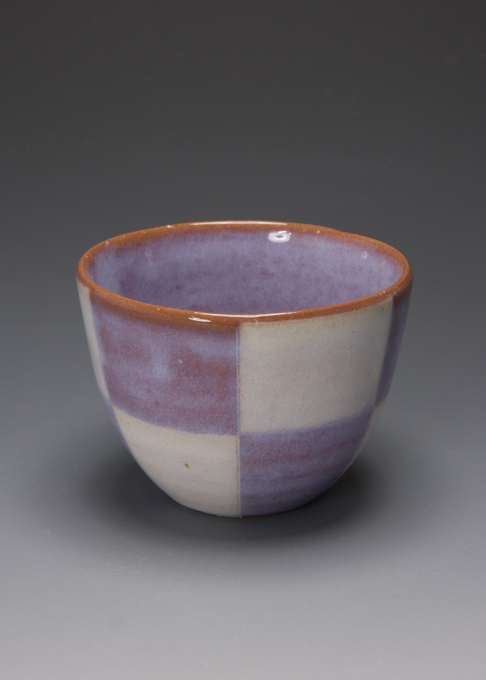 萩焼 松光山窯 紫釉 丸カップ