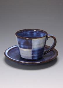青萩釉 コーヒー碗・皿