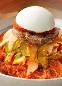 ピビン冷麺スペシャル4食セット(具材付き)