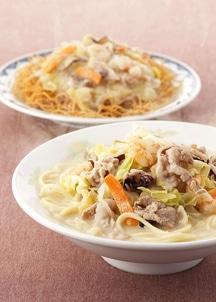 具材付きちゃんぽん・皿うどん(揚麺)詰合せ 2食×2入