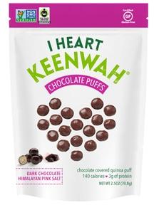 【I HEART KEENWAH】キヌアパフス ダークチョコ&ヒマラヤンピンクソルト