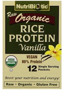 【NutriBiotic】USDAオーガニック ライスプロテイン バニラ
