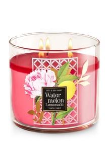 【Bath & Body Works】3-ウィック キャンドル_ウォーターメロン レモネードの香り